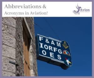 Aviation abbreviations & acronyms