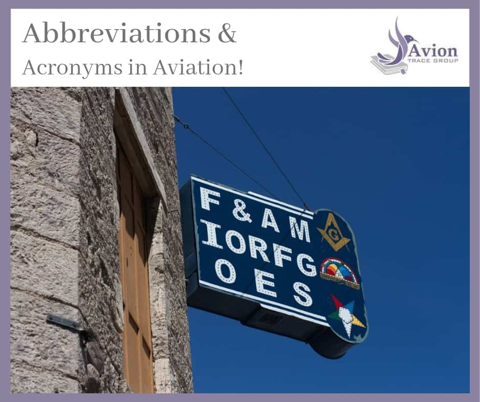 Aviation abbreviations & acronyms