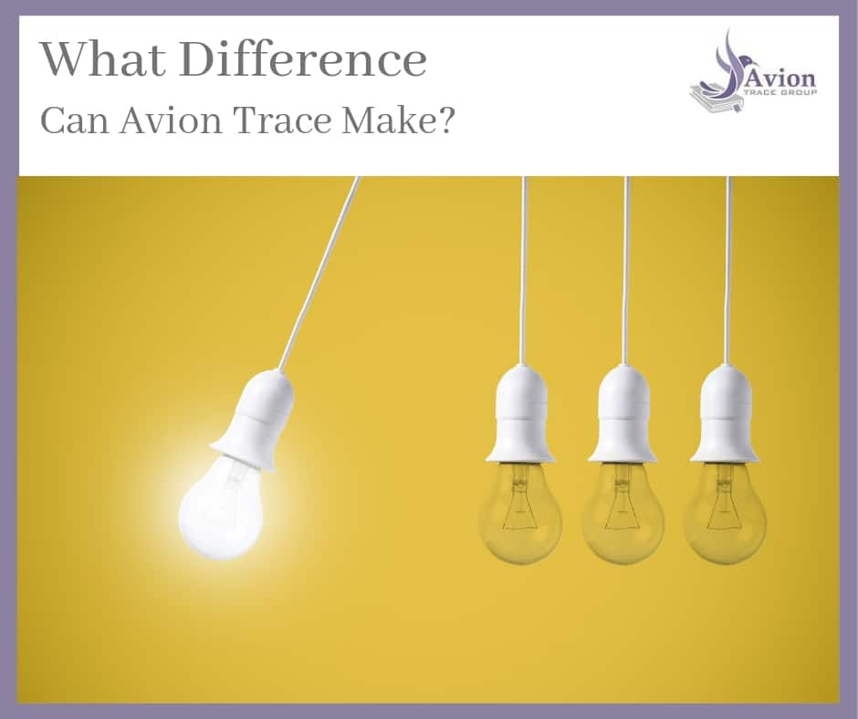 What difference can Avion Trace make to your back to birth documents?